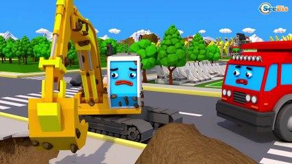 Super Caminhão e o Rápido Camión Monstruo na Cidade do Carro | Desenho animado para crianças