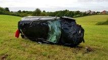 Le violent accident d'une Audi RS3 roulant à 200 km/h sur le circuit de Chimay, en Belgique