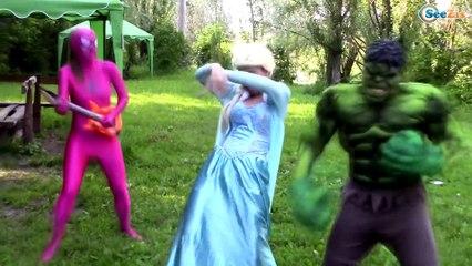 Avengers Superheroes Dancing in a Car!! Spiderman vs Deadpool vs Hulk vs Joker vs Pink Spidergirl