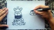 Como dibujar a los mini freddys | how to draw freddy | five nights at freddys