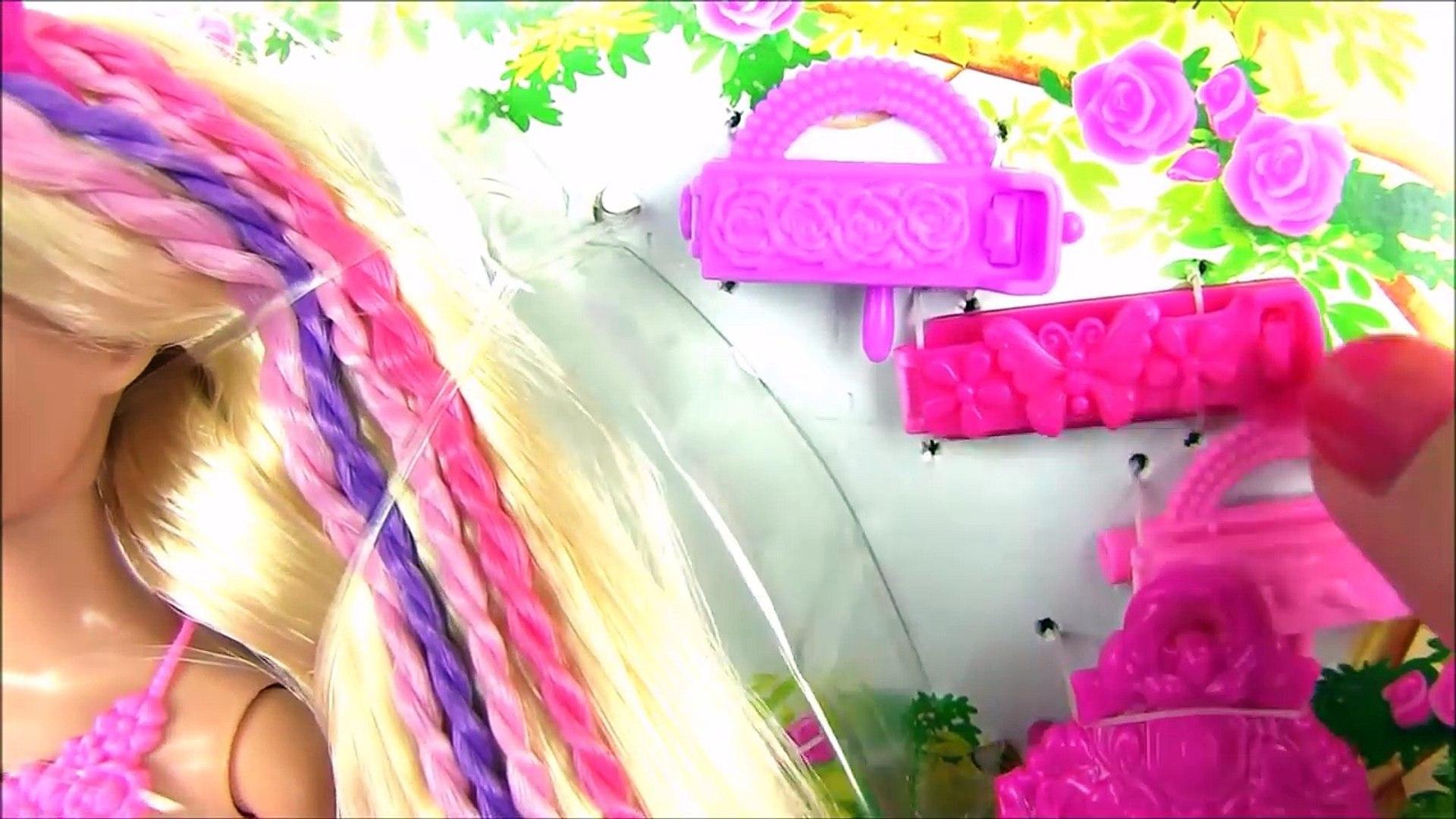 Кукла Барби – Спец. Инструмент Плетет Волосы Сам!!! Snap N Style Princess Видео с Куклами