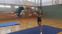 Girls super  gymnasts