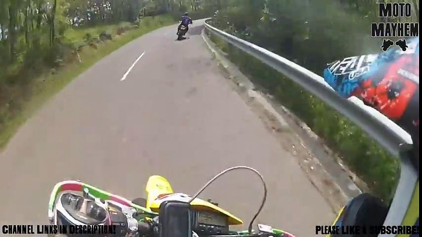 Motorcycles collide on highway!