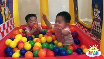 McDonalds Drive Thru Prank Inflatable giant ball pits and giant food + McDonalds Indoor Playground