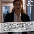 «Numéro Une»: Emmanuelle Devos s'amuse d'être considérée comme «intello»