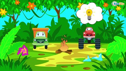 The Dump Truck Adventures with Diggers - Emergency Cars TV - Cars & Trucks for Kids