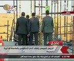 الرئيس السيسى يتفقد أعمال البناء بالحى الحكومى فى العاصمة الإدارية