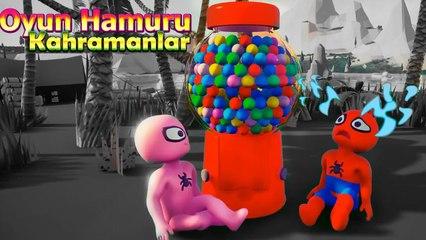 Örümcek Adam'ın Çocukları ve Şeker Makinesi - Oyun Hamuru Çizgi Film Süper Kahramanlar