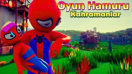 Bebek Örümcek Adam Hastalanıyor - Oyun Hamuru Çizgi Film Süper Kahramanlar