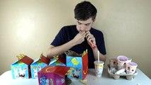 5 McDonalds Happy Meals Challenge! | 3840 Calories