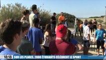2000 étudiants célèbrent le sport sur les plages du Prado avec Festiv'Amu