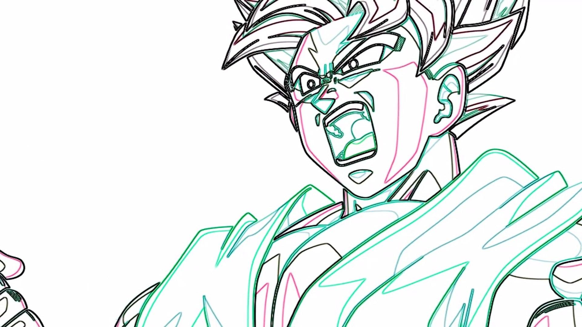 Download gratuito! √ Goku Ssj Blue Da Colorare - Disegni ...