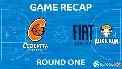 7Days EuroCup Highlights Regular Season, Round 1: Cedevita 83-86 Fiat Turin