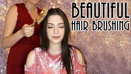 Beautiful, Calming Hair brushing sounds with Ear to Ear ASMR whisper