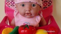Baby Doll Lunch Time Healthy Eating Pretend Play Learn Color Numbers Vegetable Names