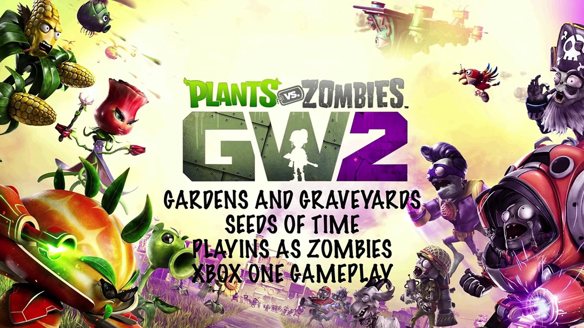 Plants vs Zombies Garden Warfare 2 Gardens and Graveyards Seeds of Time Zombie Gameplay
