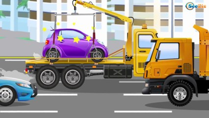 Le Camion Curieux - La Machine à cassée   Dessin animé pour enfant