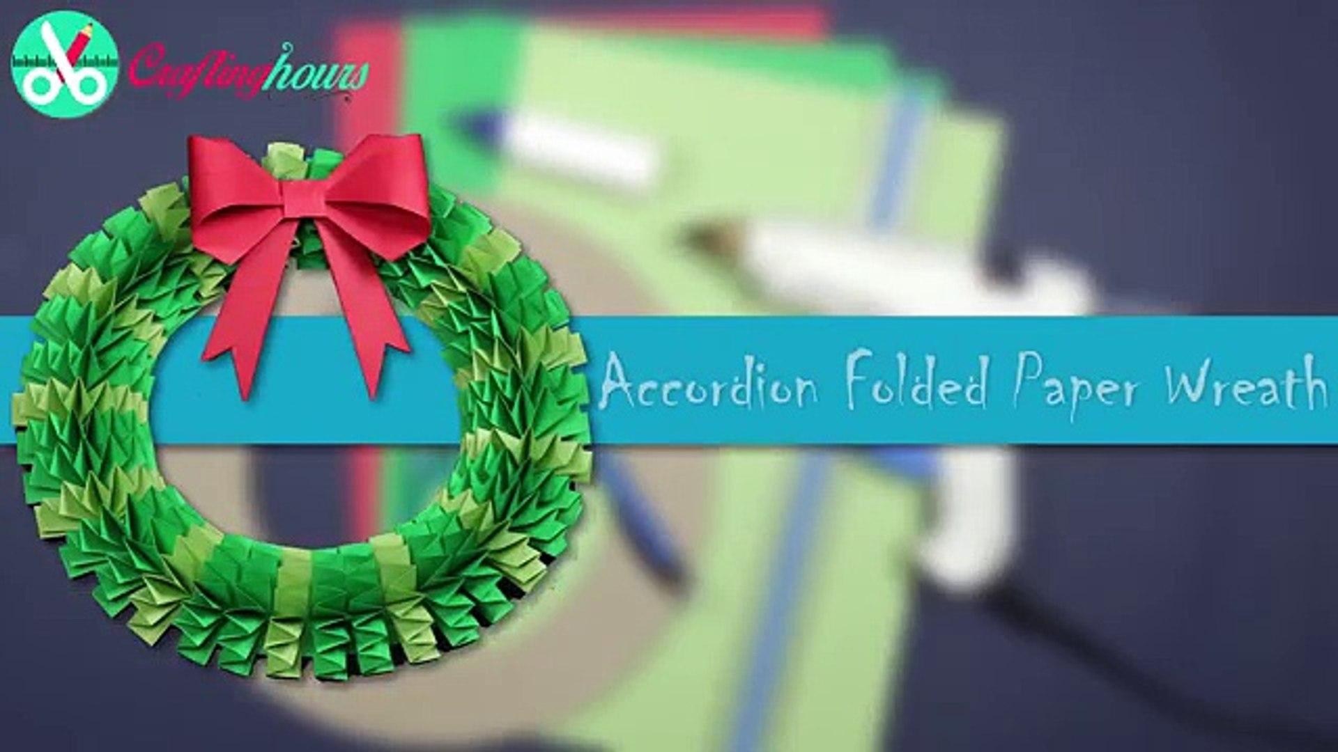 Diy Christmas Wreath How To Make Accordion Paper Folding Wreath