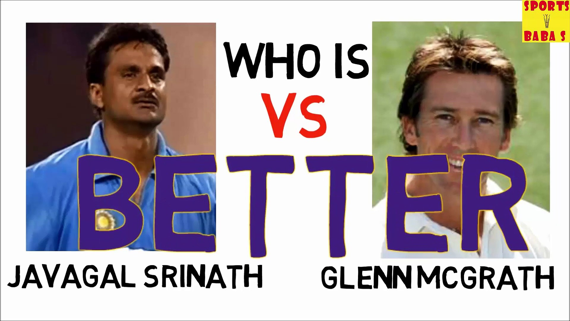 Who is Better? Javgal Srinath Vs Glenn Mcgrath Cricket Videos Knowledge Test Sports || BaBa S Series