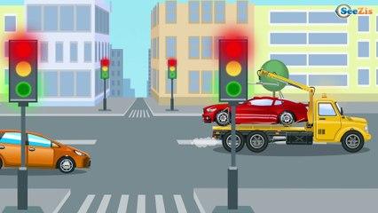 The Police Car rescues the Little Car - Monster Truck TV - Cars & Trucks for Kids