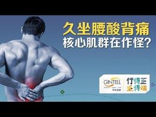 久坐腰酸背痛 核心肌群在作怪?