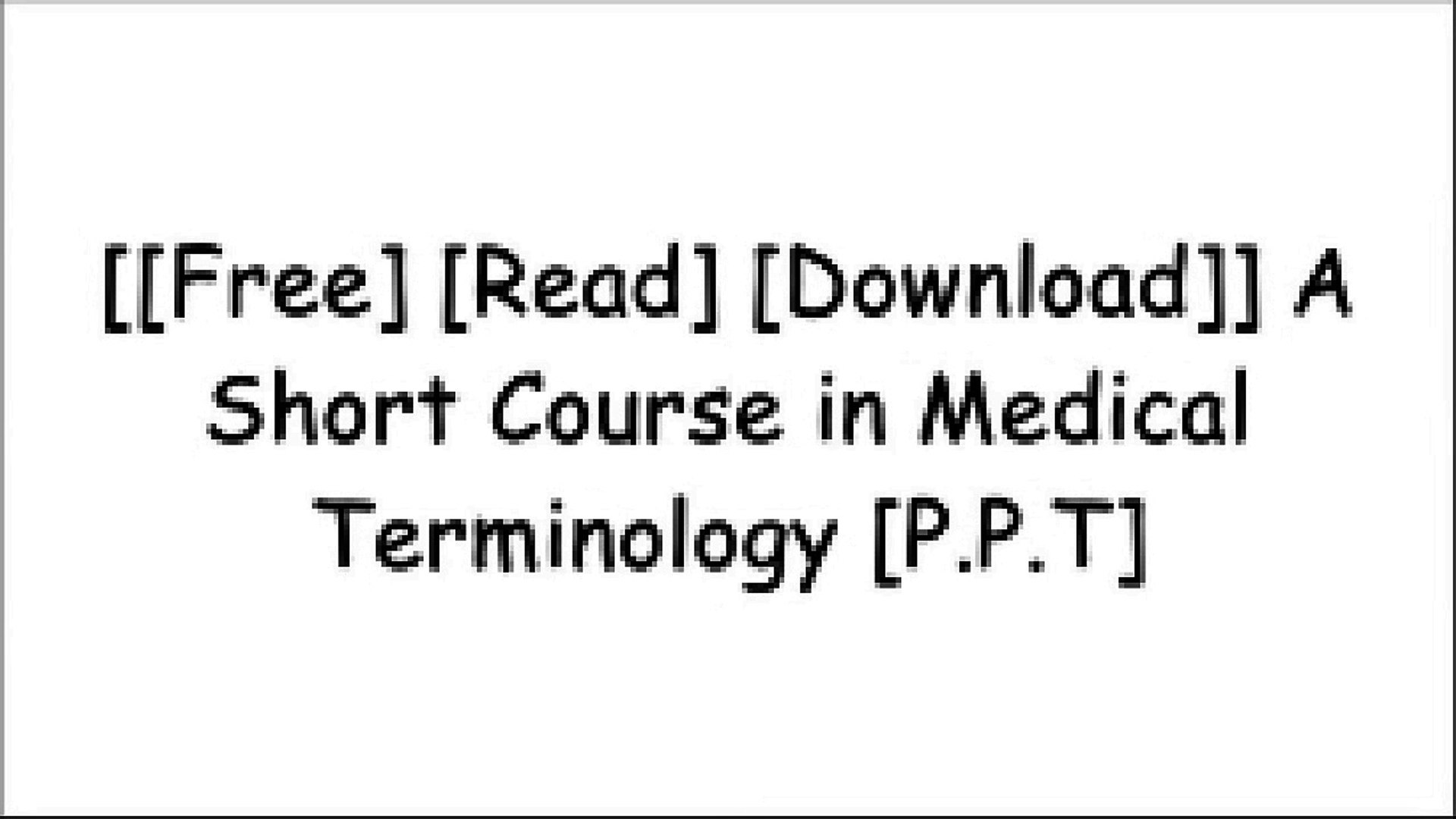 [CaZJ0 FREE DOWNLOAD] A Short Course in Medical Terminology by C  Edward  CollinsPaul A  KriegerSusan Buchholz RN MSN CNEMeredith E  Drench Ph D  PT  [P D F]