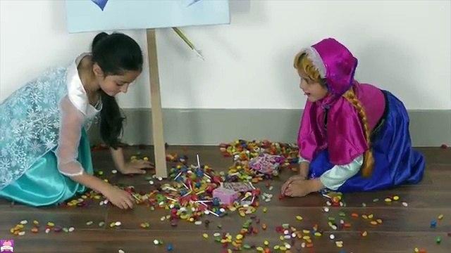 DISNEY FROZEN VIDEOS Elsa & Anna GIANT ICE CREAM POPSICLE Surprise Toys MLP Shopkins