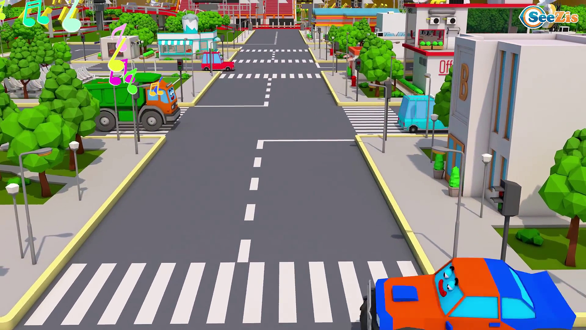 Super Truck and Color Cars and Trucks in Trucks City 3D Animation | Cars & Trucks Stories