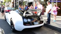 HYPERCARS GALORE: 6 Bugatti Veyrons, 3 918s, 2 LaFerraris, 2 P1s. Supercars of Los Angeles!