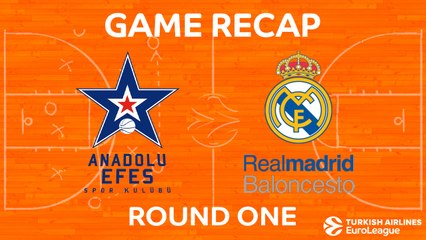 EuroLeague 2017-18 Highlights Regular Season Round 1 video: Efes 74-88 Madrid