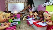Babys Alive Brincando de escolinha - Aula 1 as vogais - Babys Alive kindergarten to Play