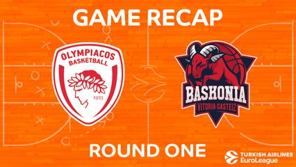 EuroLeague 2017-18 Highlights Regular Season Round 1 video: Olympiacos  75-64 Baskonia