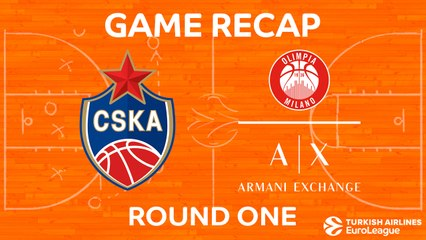 EuroLeague 2017-18 Highlights Regular Season Round 1 video: CSKA Moscow 93-84 AX Milan