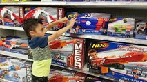 NERF Shopping at TOYS R US! Pokemon Toys, Star Wars, Spider-Man, Disney Toys, Family Vlog, Part 1