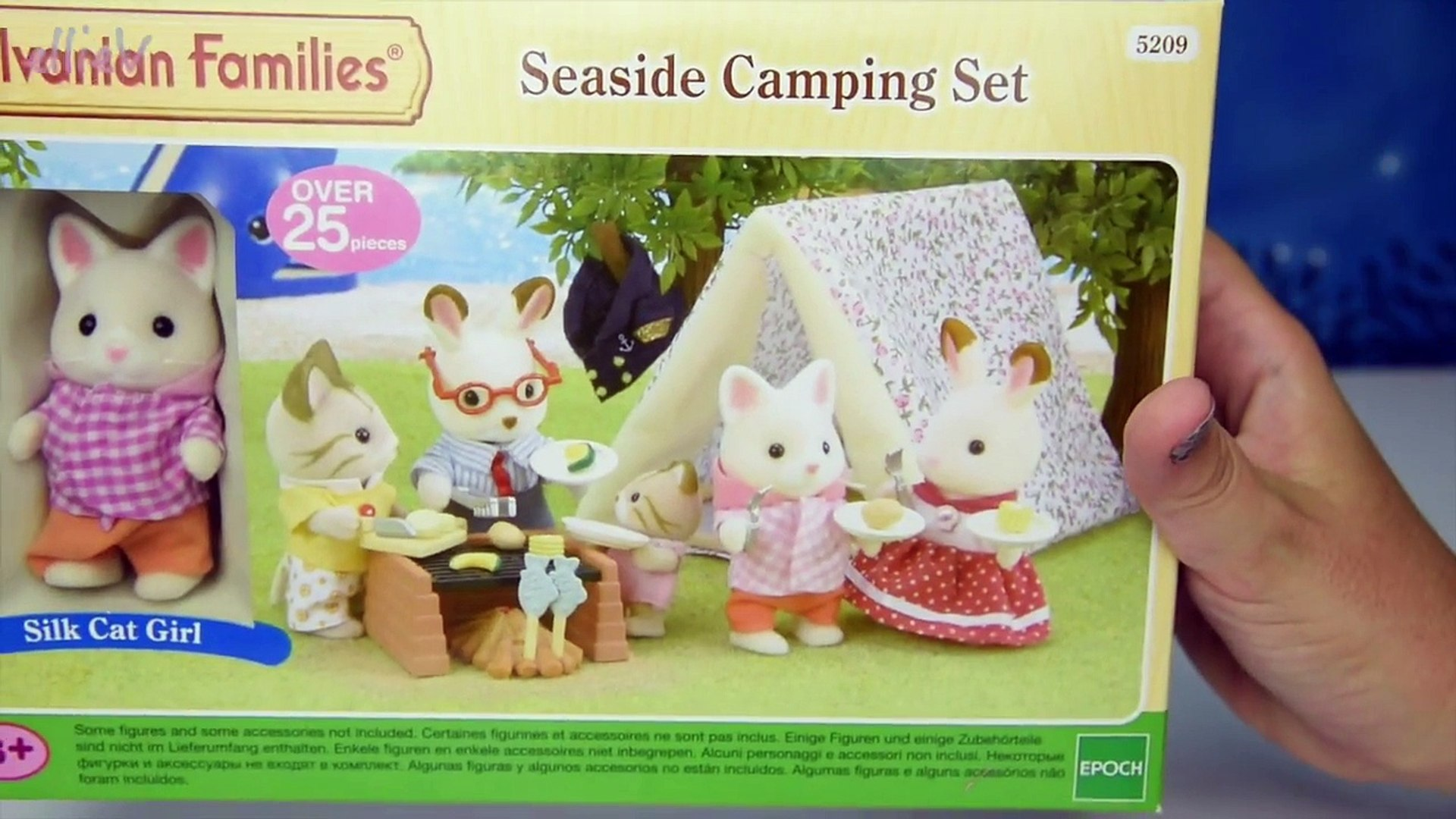 Sylvanian Families Calico Critters Baby Silk Cat On A Toy Boat