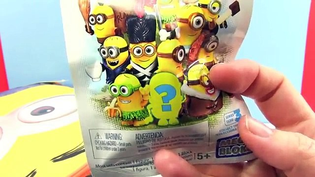 TALKING Minions Surprise Backpack - Minions Movie Mystery Minis, Shopkins 5 pack, Blind Bags