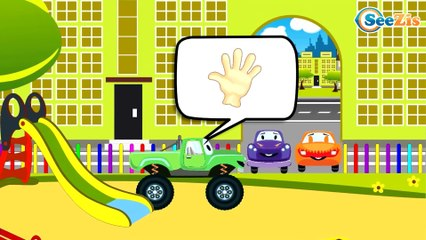 The Diggers Cartoon and The Truck   Construction Trucks & Service Vehicles Cartoons for children