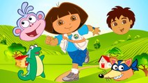 Wrong Head Dora The Explorer Kids Dora Diego Boots Swiper Finger Family Nursery Rhymes