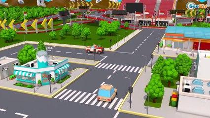 Caminhão de Despejo   Trator e o caminhão de reboque   Desenhos animados com Carros