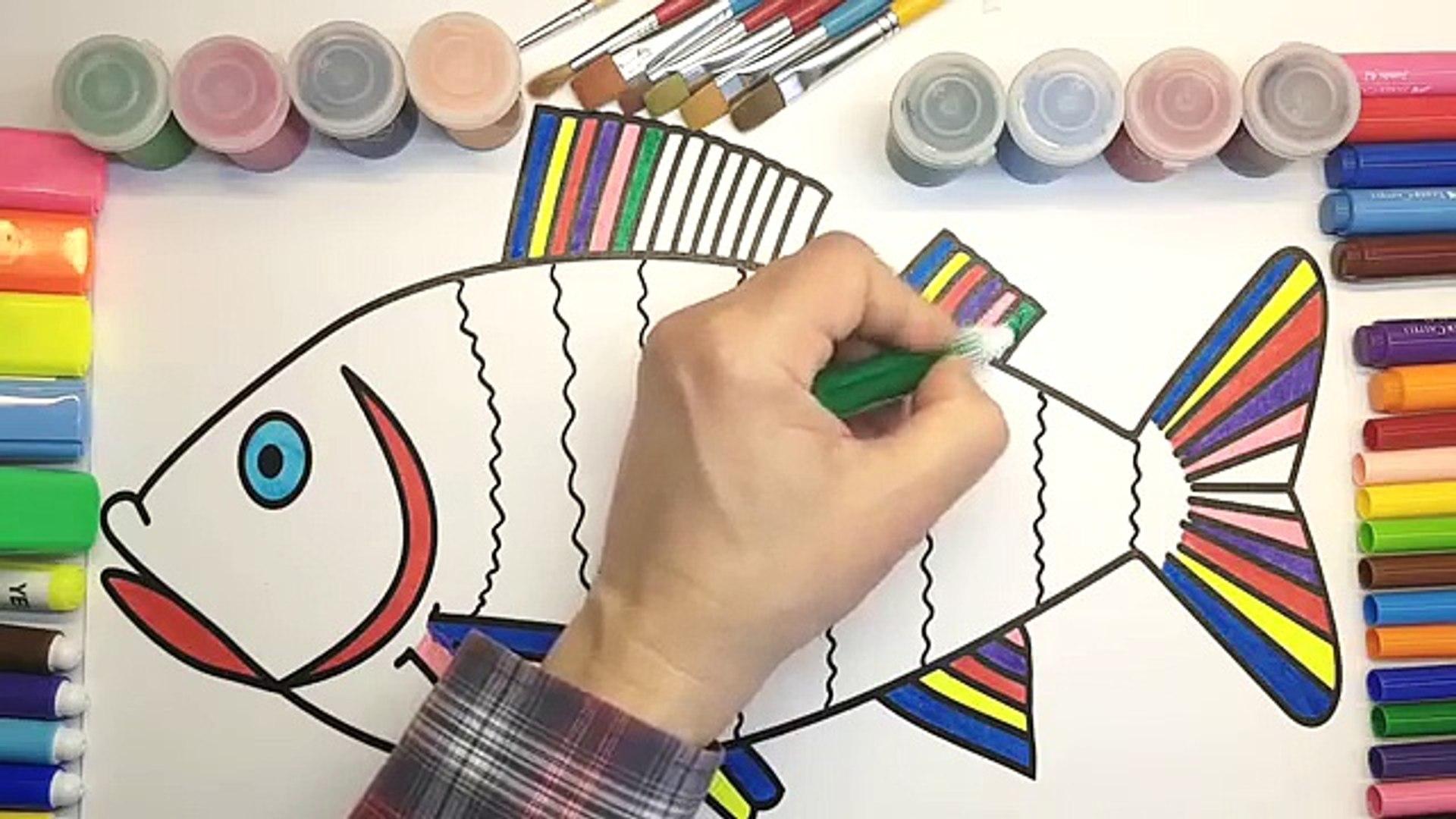 Renkleri Ogreniyorum Balik Boyama Ve Cizimi Oyun Hamuru Evi