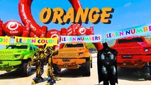 LEARN COLORS SUV CARS & Super Hero Fun Animation for children and babies