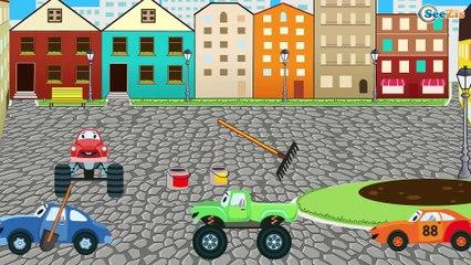 Jeu d'assemblage - Le Tracteur Jaune et Le Camion - Voitures de construction - Voitures Pour Enfants