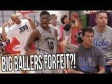 Lavar Ball FORFEITS Big Ballers Playoff Game! UCLA Coaches Watching LaMelo!
