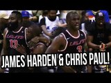 James Harden & Chris Paul Team Up At Drew League! Russell Westbrook NO SHOW!