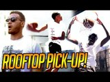 Bol Bol, Shareef, Cassius & MORE PICK-UP w/ Blake Griffin Watching On ROOFTOP COURT!