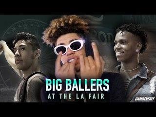 Big Ballers TAKEOVER LA COUNTY FAIR! LaMelo, Will Pluma, Davis Bros Chop Girls & Get ROASTED