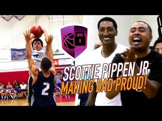 Scottie Pippen Jr Has Pick-Pocket On HOF! Sierra Canyon DEBUT HIGHLIGHTS in Front of His Dad!
