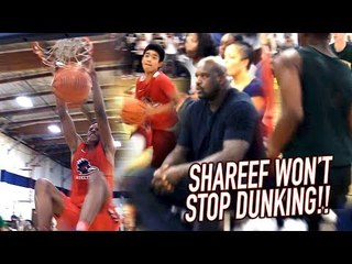 Shareef CAN'T STOP DUNKING w/ SHAQ WATCHING! Baseball Player Catches a BODY!