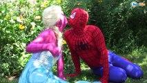 Frozen Elsa & Anna become DOLLS w/ Spiderman & Ironman Superhero real