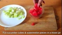 Watermelon Cucumber Icecubes to remove Suntan, pimples, dark spots, skin whitening, acne, open poers